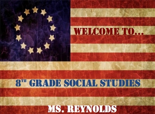 Ms. Reynolds Welcome